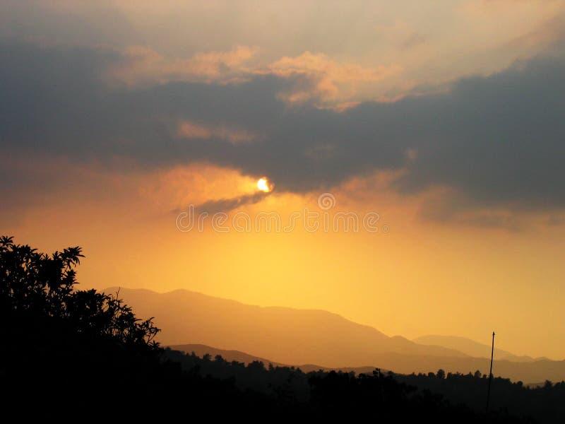 Coucher Du Soleil De La Chypre Photographie stock libre de droits