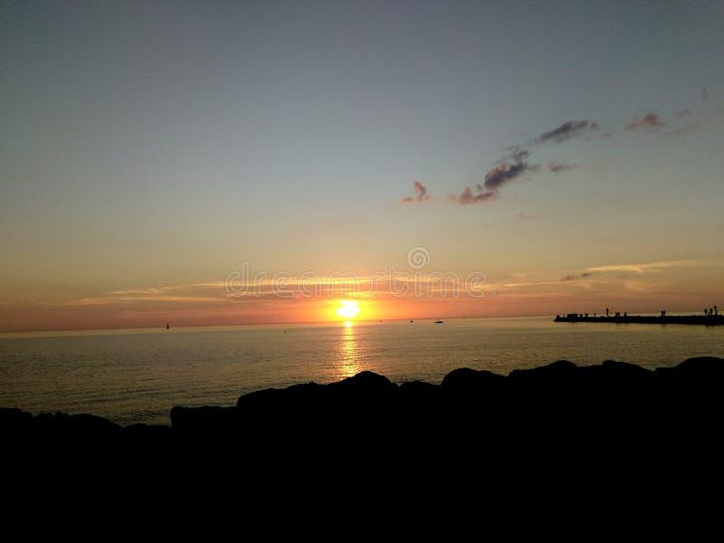 Coucher du soleil de la Floride photo libre de droits