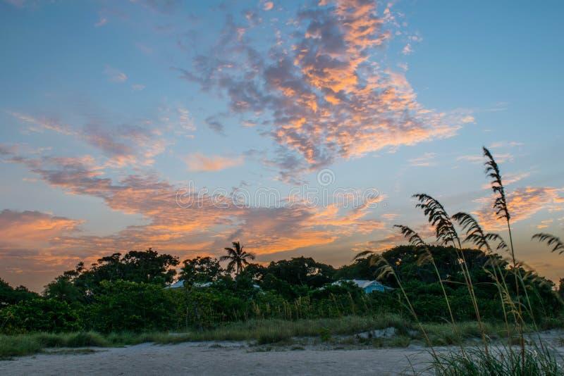 Coucher du soleil de la Floride images stock