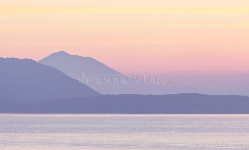 Coucher du soleil de la Grèce photographie stock libre de droits