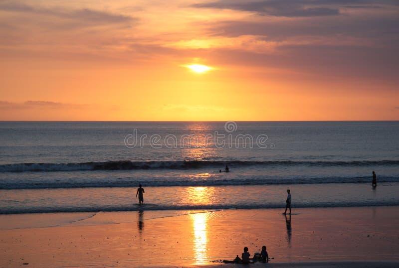 Coucher du soleil de la Thaïlande photographie stock libre de droits