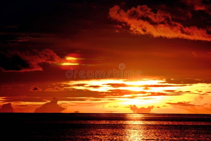 Coucher du soleil de Layang-Layang image stock