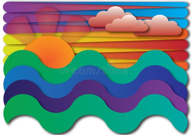 Coucher du soleil de lever de soleil illustration stock