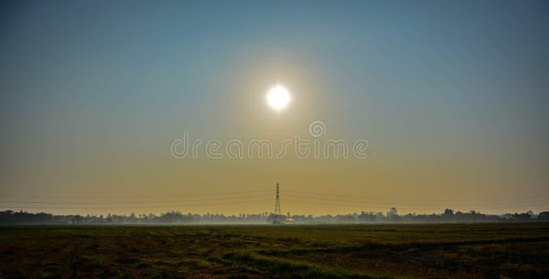 coucher du soleil de matin photos libres de droits