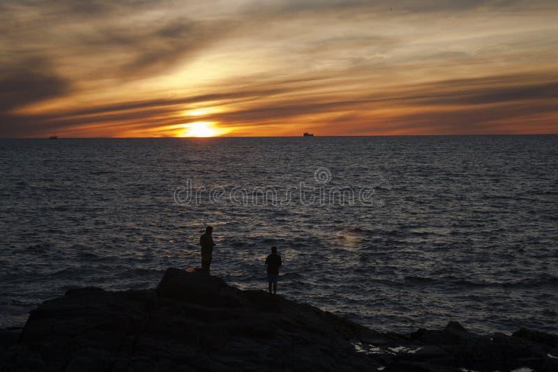 Coucher du soleil de Mazatlan photographie stock