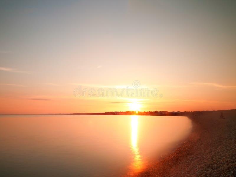 Coucher du soleil de Milford photos stock