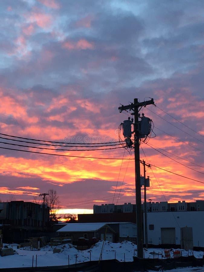 Coucher du soleil de Milou images stock