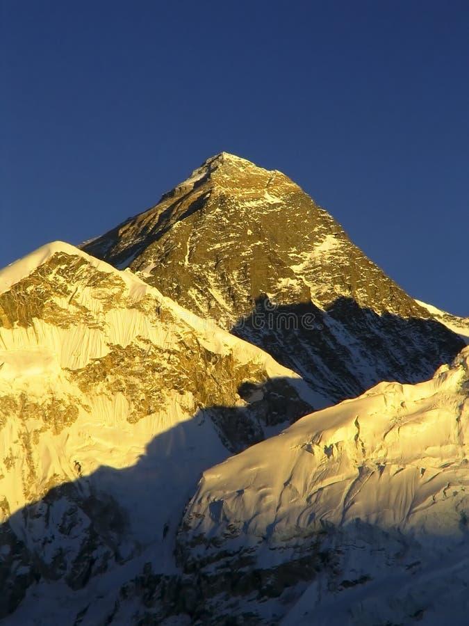 Coucher du soleil de Mt Everest photos stock