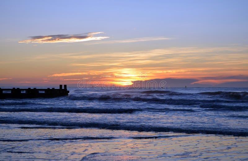 Coucher du soleil de New Jersey d'Atlantic City photo libre de droits