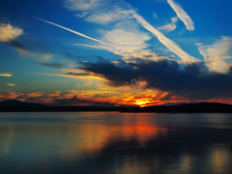 Coucher du soleil de Patricia Bay image libre de droits