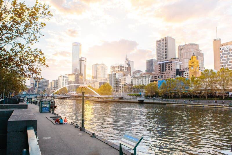 Coucher du soleil de paysage urbain images libres de droits