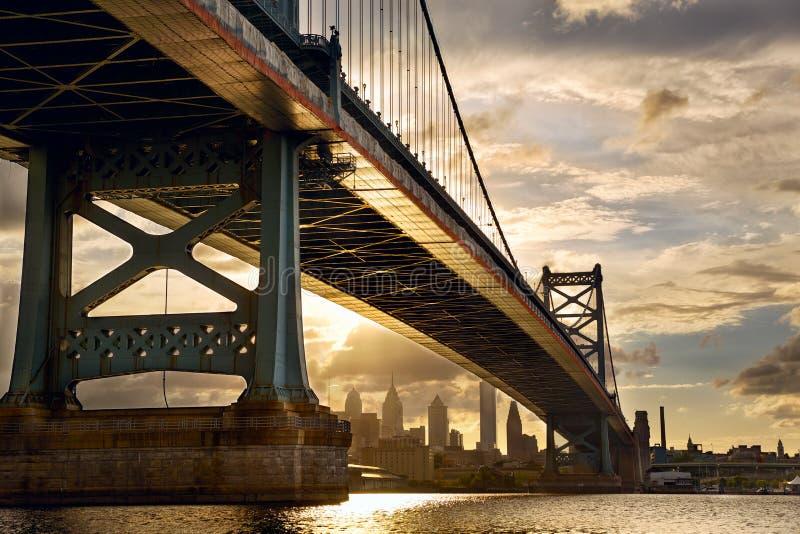 Coucher du soleil de Philadelphie photos libres de droits