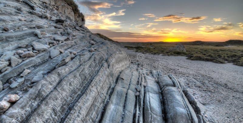 Coucher du soleil de Pilbara photo libre de droits