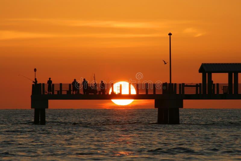 Coucher du soleil de pilier photo stock