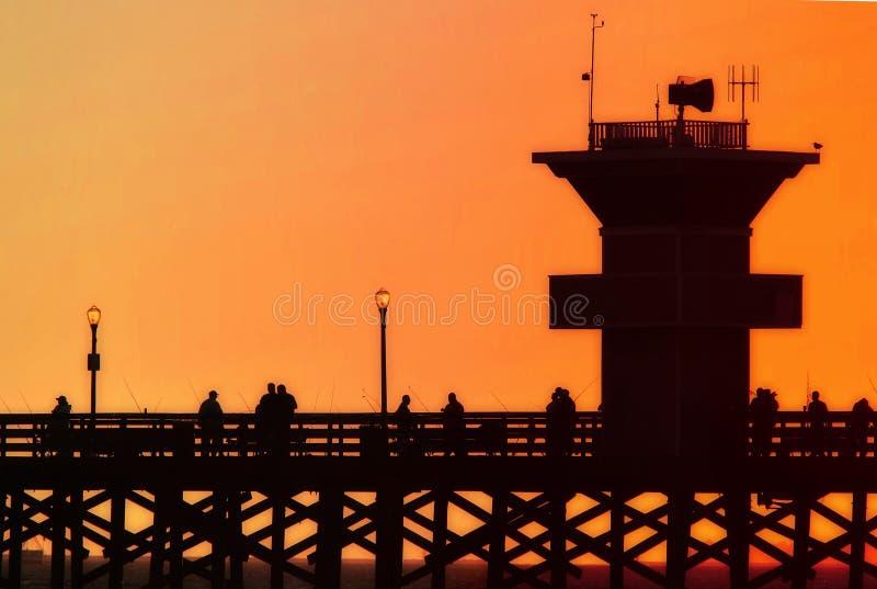 coucher du soleil de pilier photographie stock libre de droits
