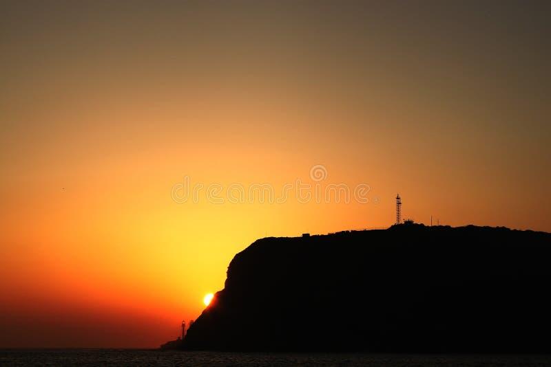 Coucher du soleil de Point Loma image stock