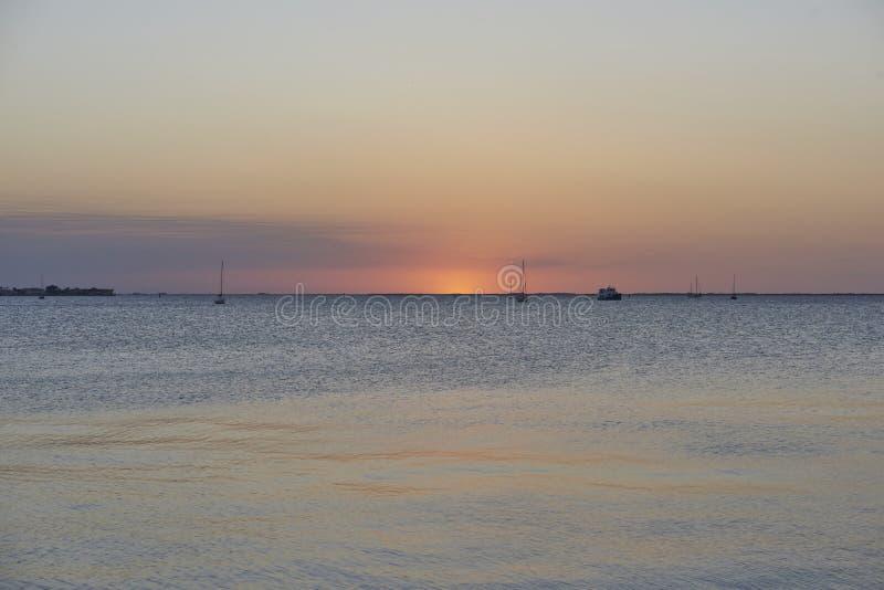 Coucher du soleil de Punta Gorda photo stock
