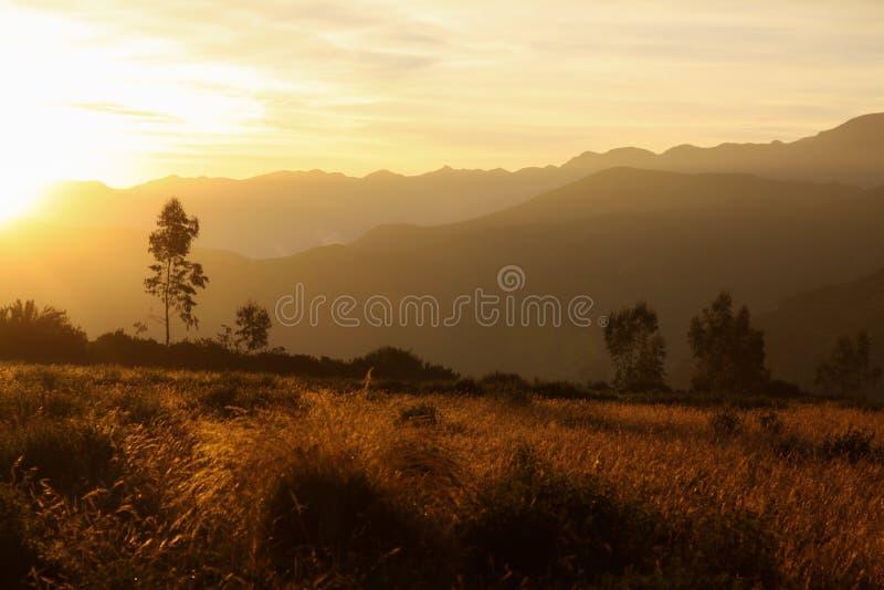 Coucher du soleil de Putre photo stock