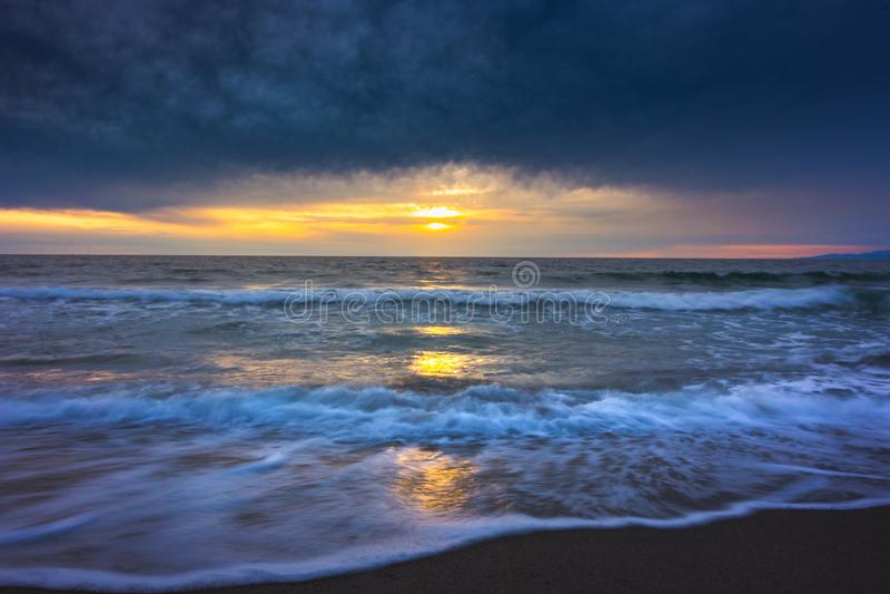 Coucher du soleil de Redondo Beach photos stock