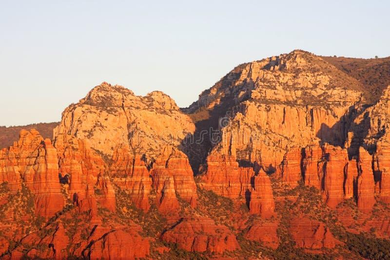 coucher du soleil de sedona de l'Arizona photographie stock
