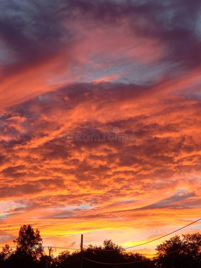 Coucher du soleil de septembre image stock