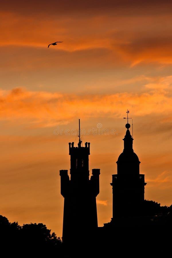 Coucher du soleil de St Peter Port photos libres de droits