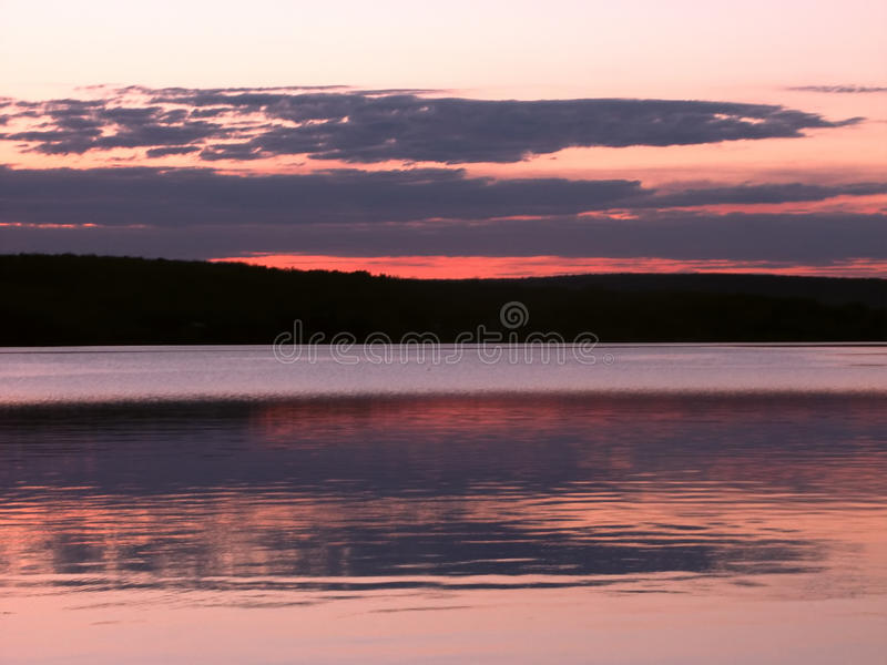Coucher du soleil de supérieur de lac photos libres de droits