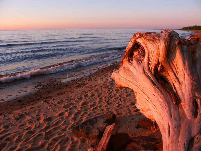 Coucher du soleil de supérieur de lac photo libre de droits