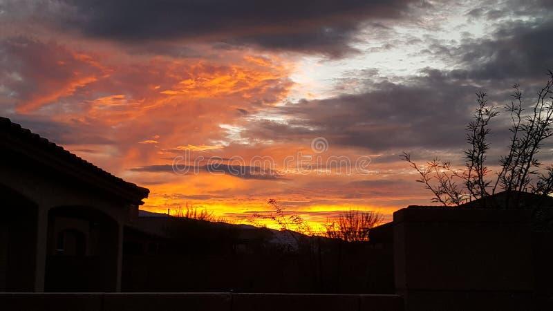 Coucher du soleil de Tucson photos libres de droits