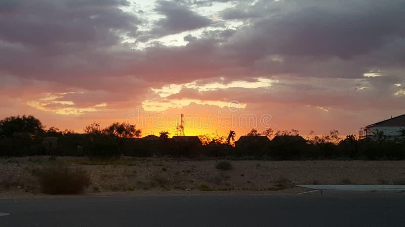 Coucher du soleil de Tucson image stock