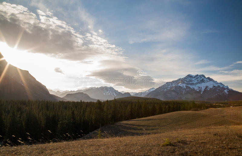 Coucher du soleil de vallée d'arc photos libres de droits