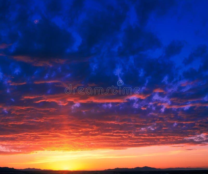 Coucher du soleil de vallée de Salt Lake photos libres de droits