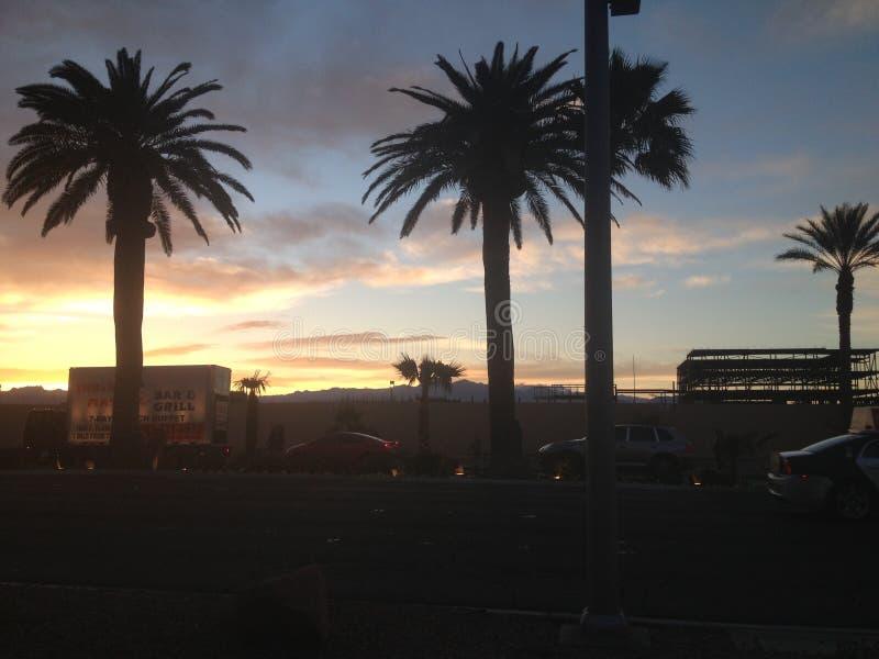 Coucher du soleil de Vegas photos libres de droits