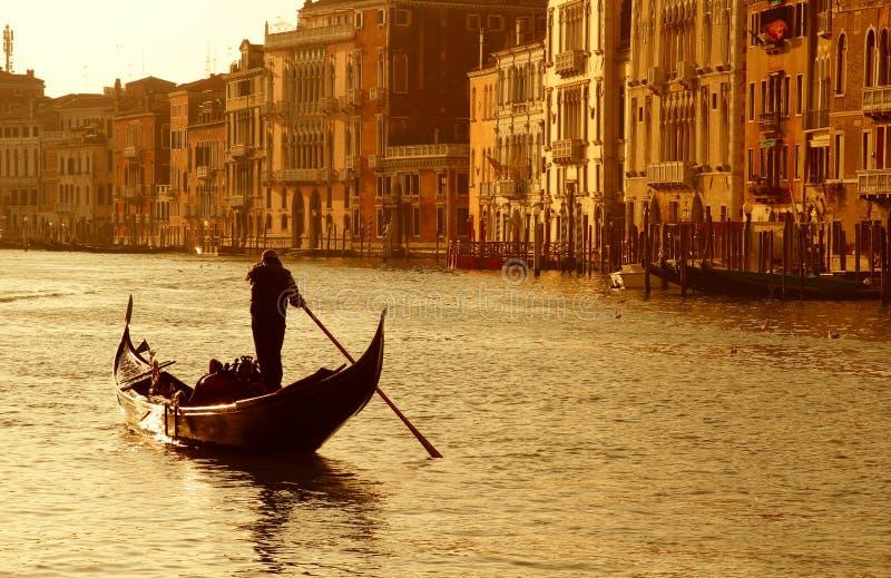 Coucher du soleil de Venise images libres de droits