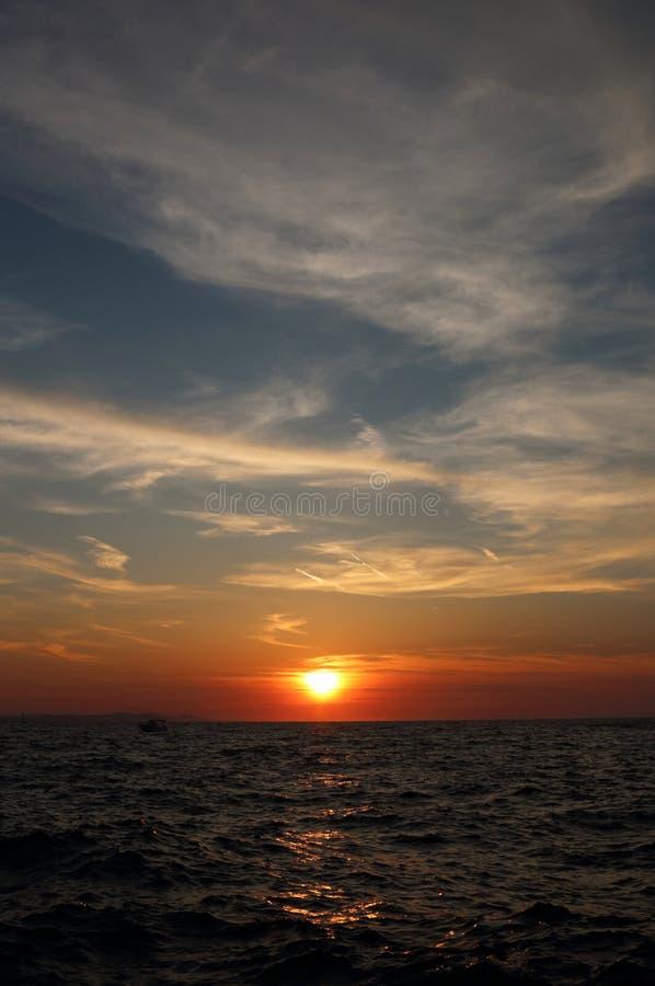 Coucher du soleil 2 de Zadar image libre de droits