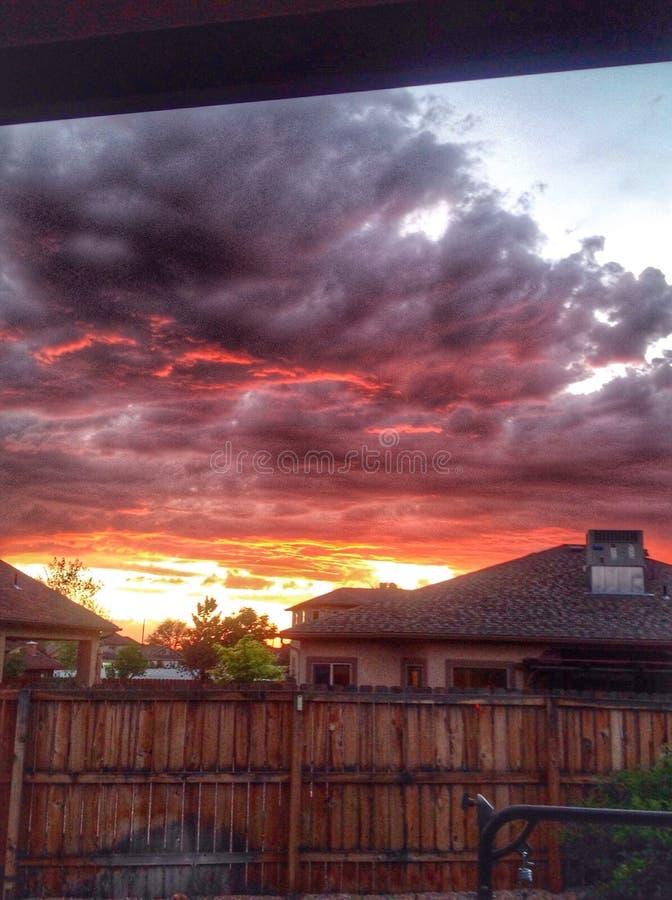 Coucher du soleil du Colorado photos stock