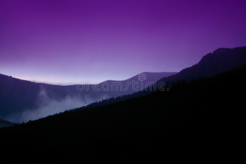 Coucher du soleil du Colorado de montagne rocheuse photo libre de droits