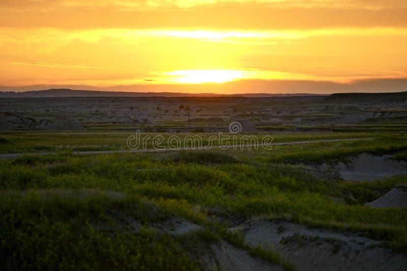 Coucher du soleil du Dakota du Sud photos stock