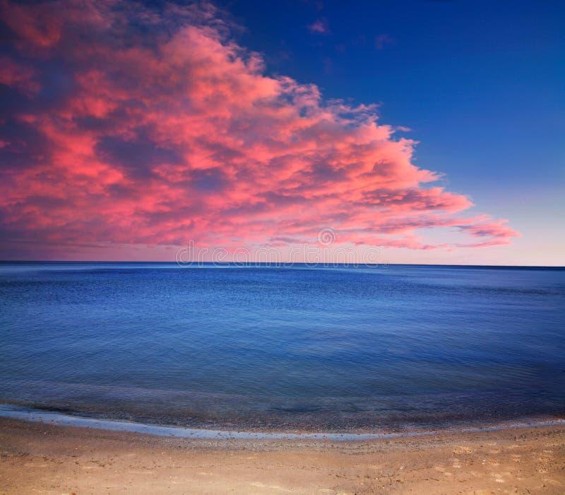 Coucher du soleil du lac Érié images libres de droits