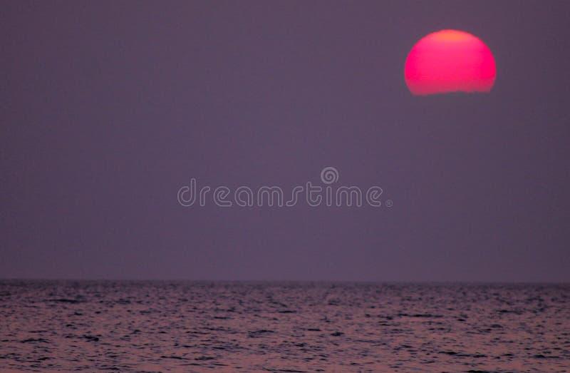 Coucher du soleil du lac Michigan photographie stock libre de droits