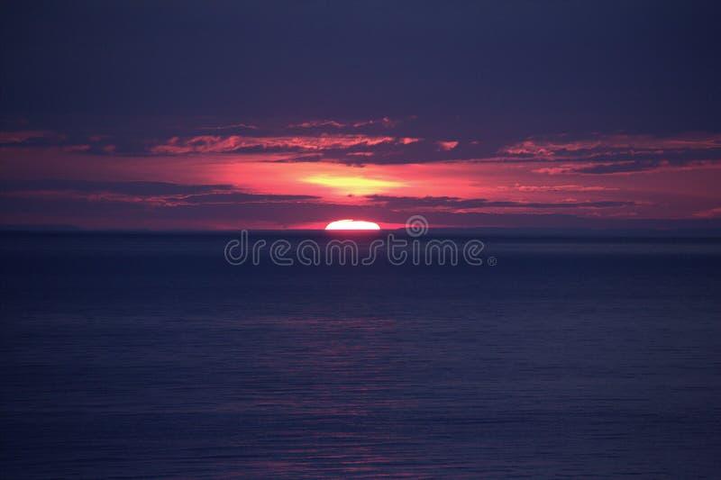 Coucher du soleil du lac Ontario images libres de droits