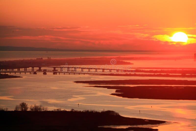 Coucher du soleil du Long Island photos libres de droits