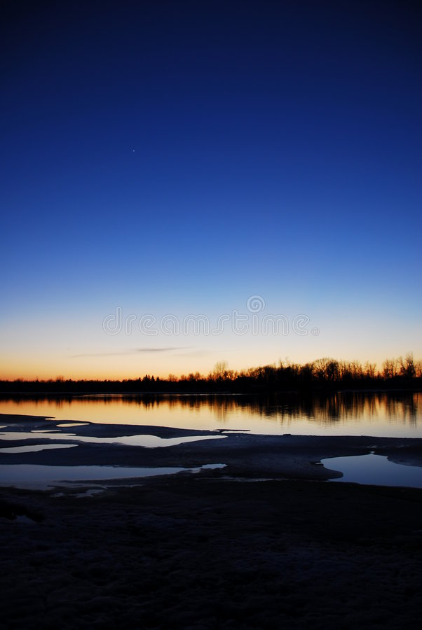 Coucher du soleil du Mississippi photographie stock