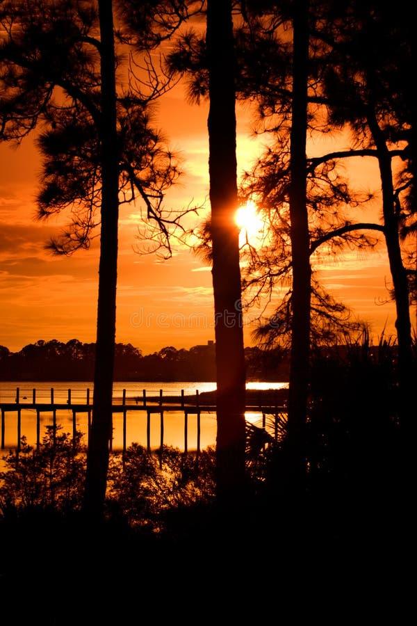 coucher du soleil du Panama de ville image libre de droits