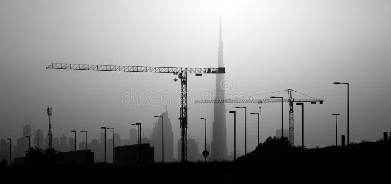Coucher du soleil. Dubaï images libres de droits