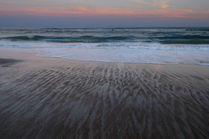 Coucher du soleil, Emerald Isle, la Caroline du Nord photographie stock