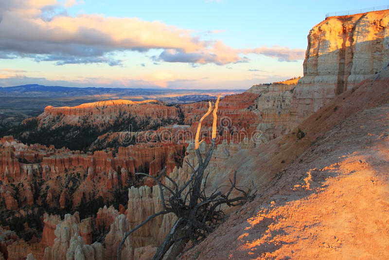 Coucher du soleil en Bryce Canyon, Utah, Etats-Unis photos libres de droits