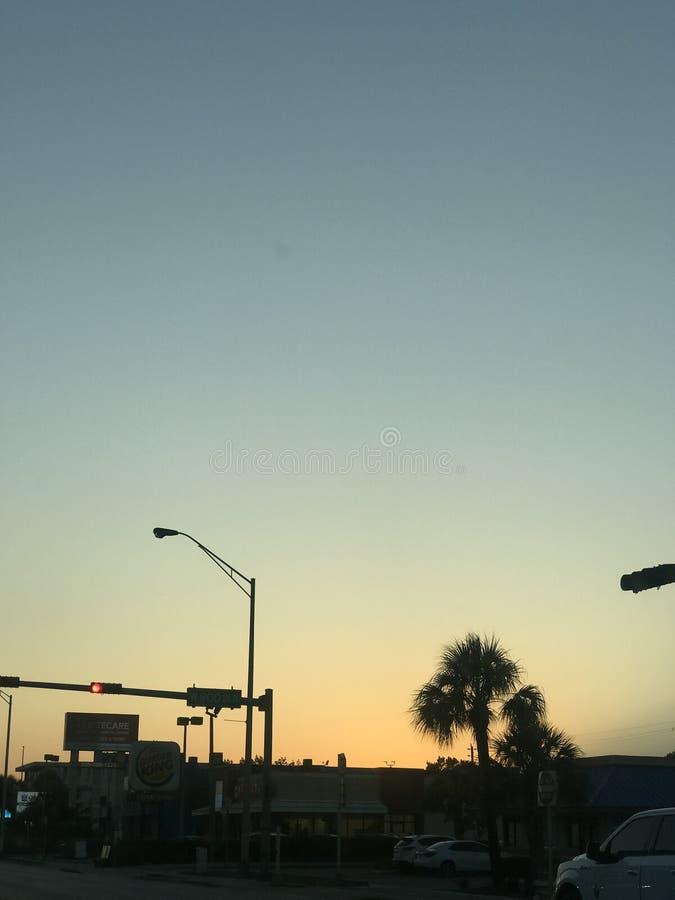 Coucher du soleil en Floride images libres de droits