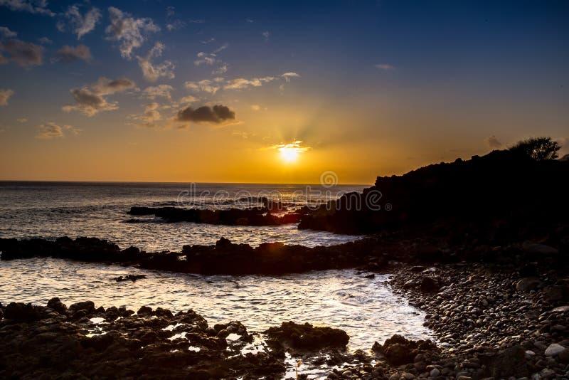 Coucher du soleil en Hawaï photographie stock libre de droits