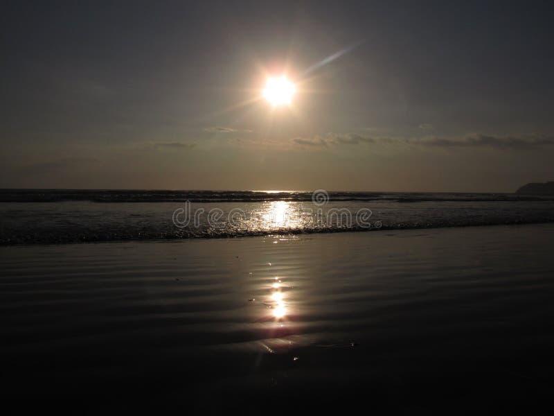 Coucher du soleil en Jaco Costa Rica images libres de droits